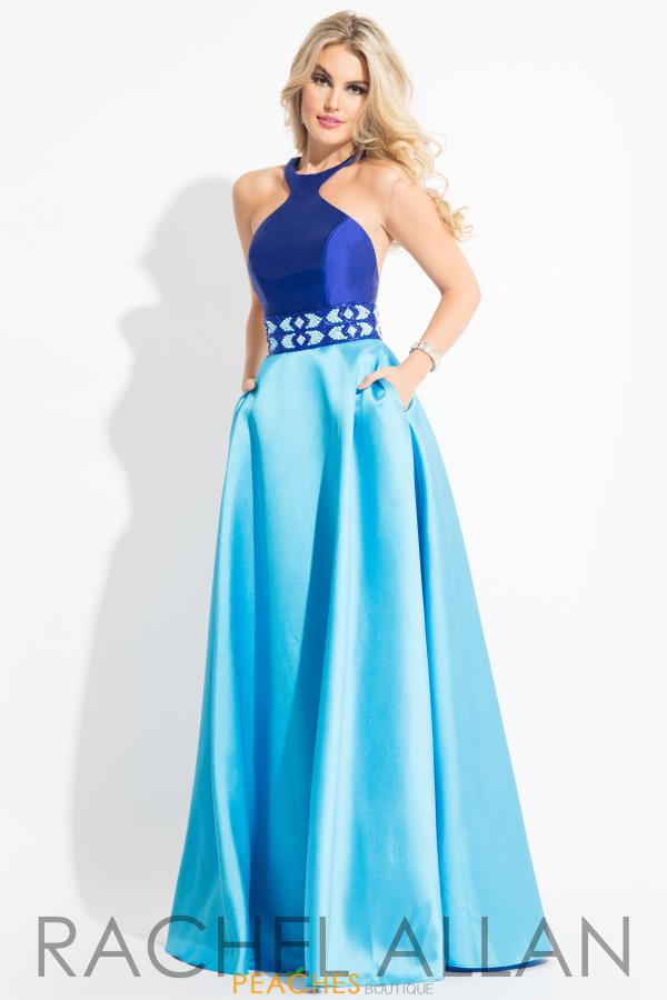 Rachel Allan Beaded Mikado Princess Prom Gown 2096