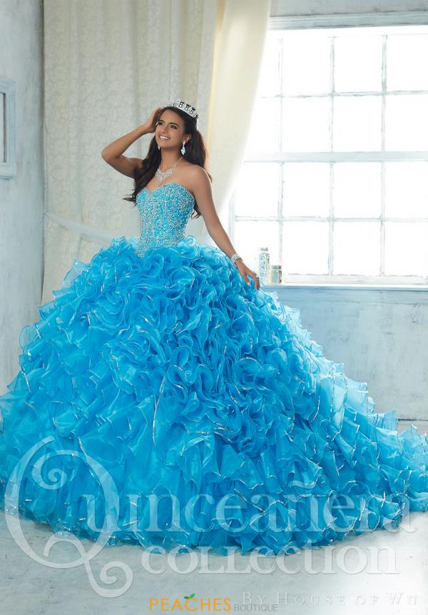 Tiffany Beaded Organza Quince Dress 26850