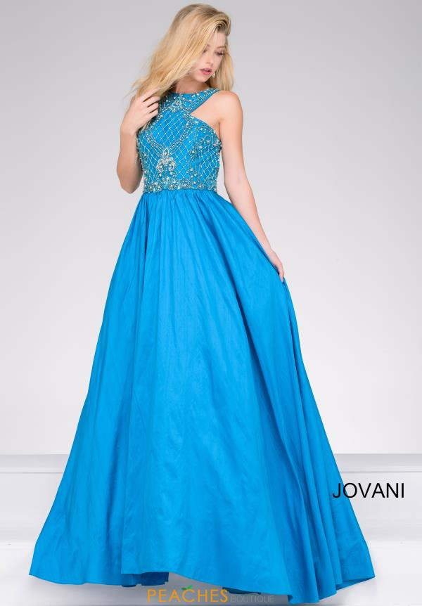 Jovani 36401 Beaded Halter Dress