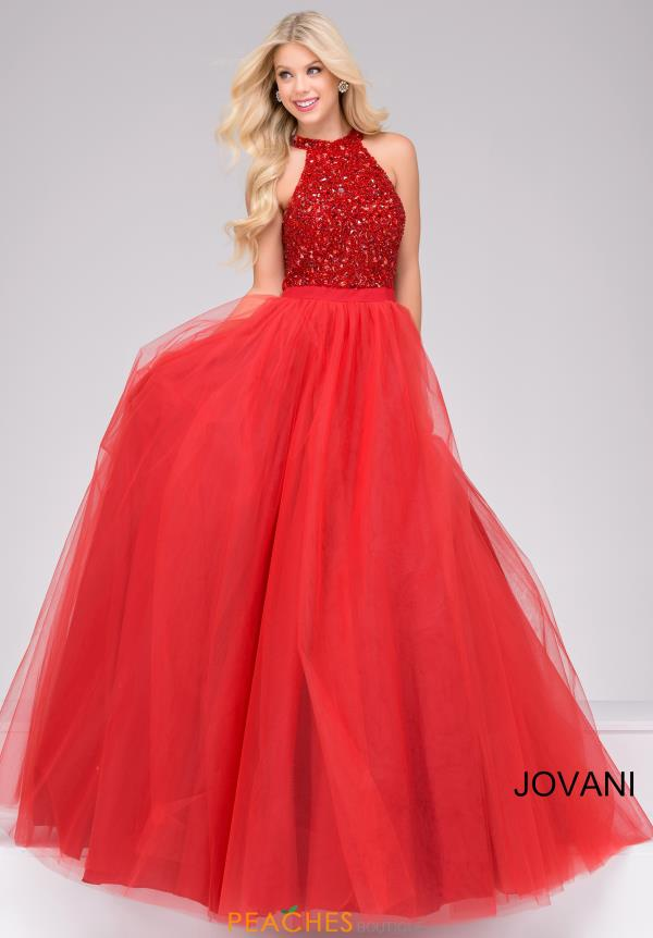 Jovani Tulle Ball Gown Dress 40438