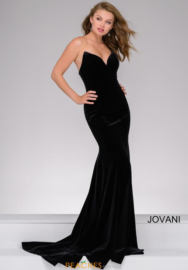 Jovani Velvet Sweetheart Dress 40786