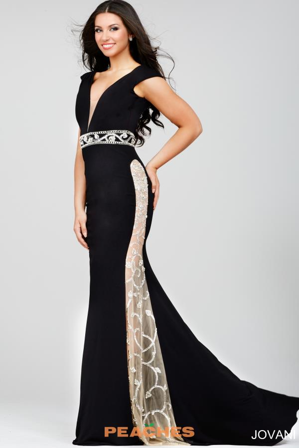 Jovani V- Neckline Fitted Dress 22893
