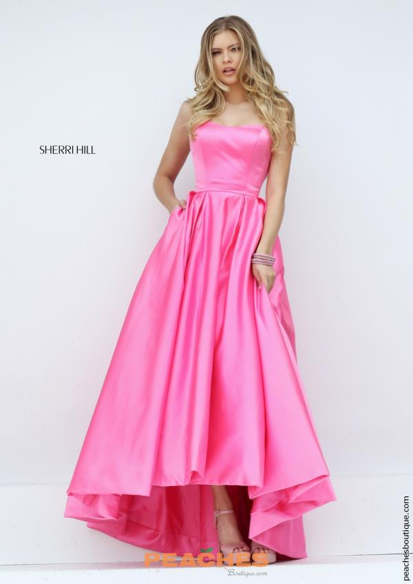 Sherri Hill Satin High Low Dress 50226