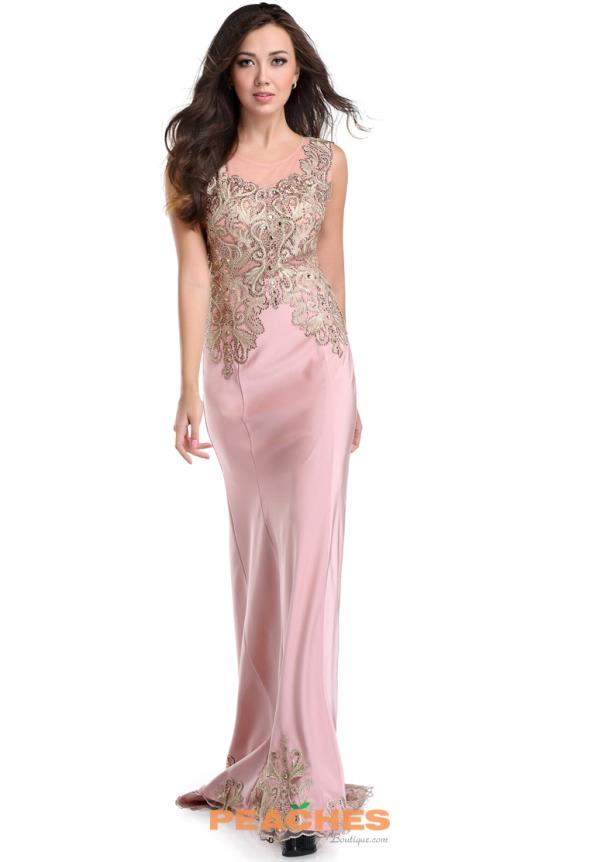Romance Couture Fitted Long Dress RD1636