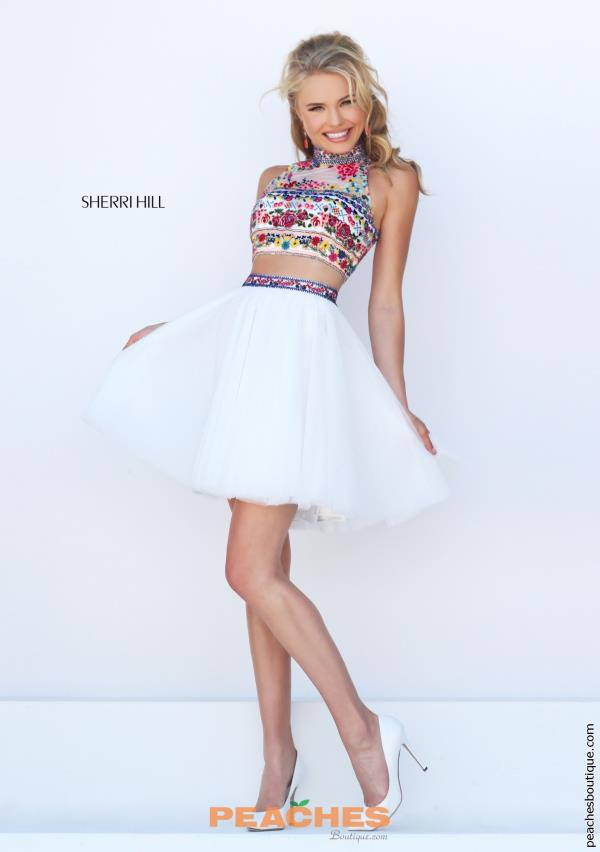 Sherri Hill Short Halter Top Two Piece Dress 50140