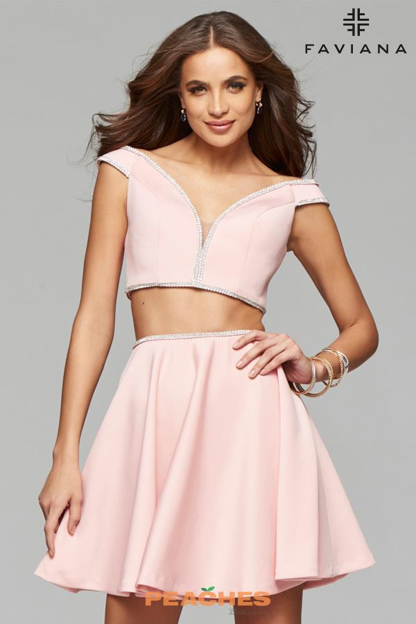 Faviana Sleeved Two Piece Dress 7865