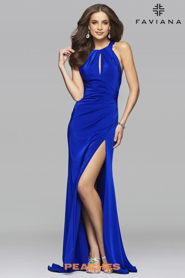 Faviana Long Fitted Dress 7890