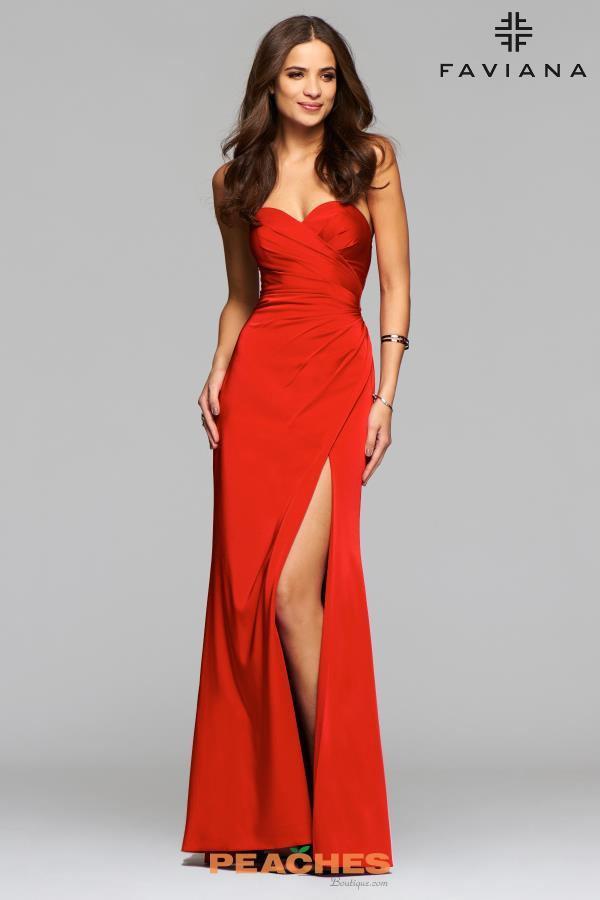 Strapless Fitted Faviana Dress 7891