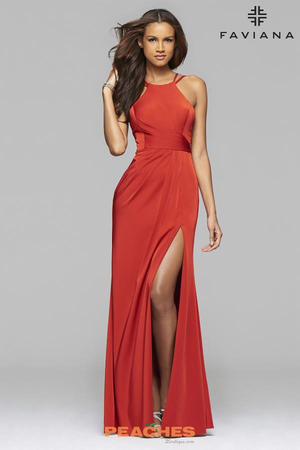 Faviana Red Fitted Dress 7904