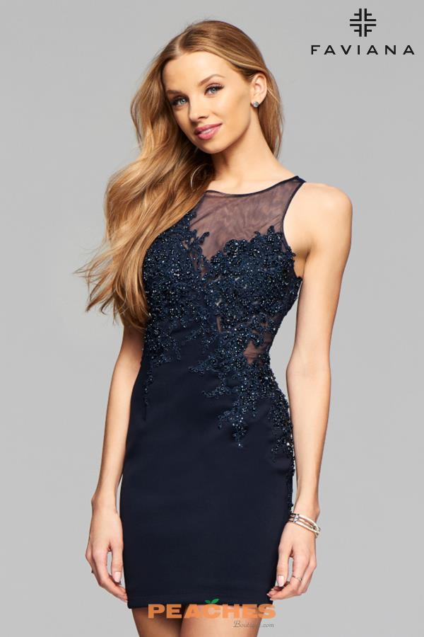 Faviana Lace Fitted Dress S7885