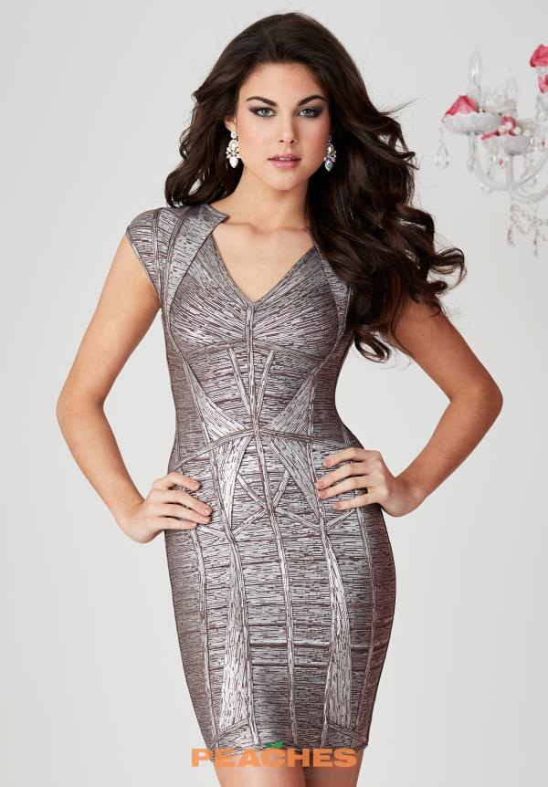 Hannah S Bandage Short Dress 27106
