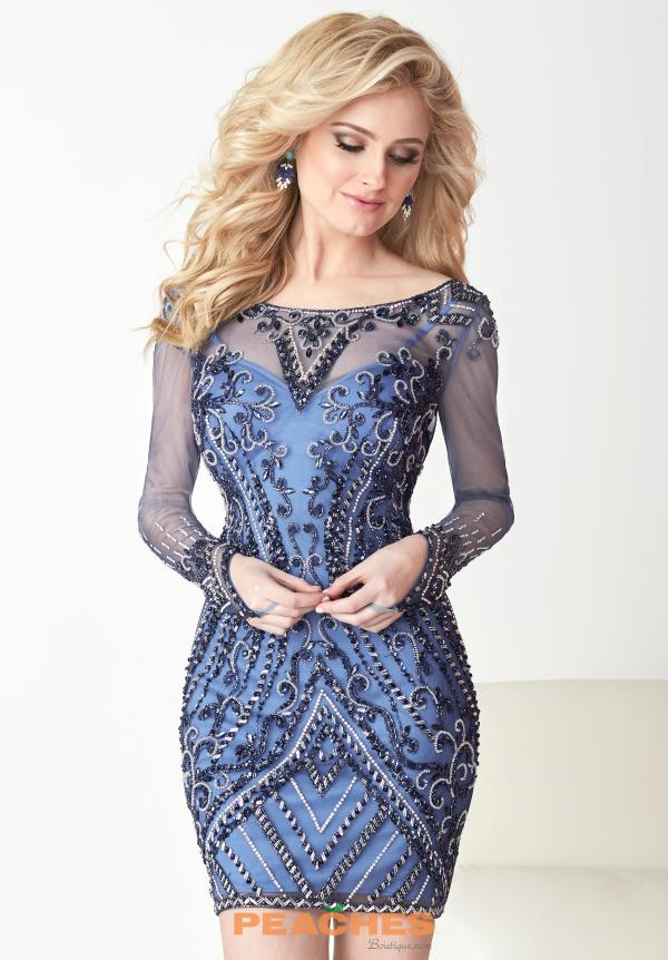 Hannah S Long Sleeved Fitted Dress 27114