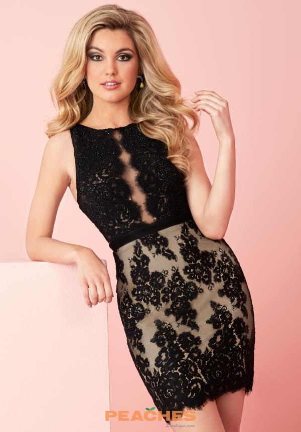 Hannah S Lace Fitted Dress 27125