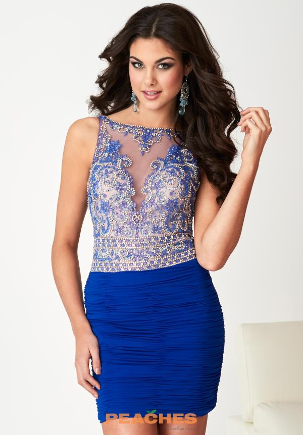 Hannah S Beaded Short Dress 27137