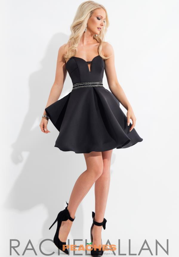 Short Strapless Rachel Allan Dress 4199