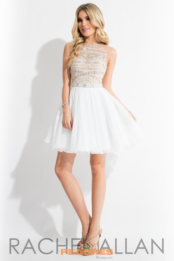 Rachel Allan Beaded Short Dress 4272