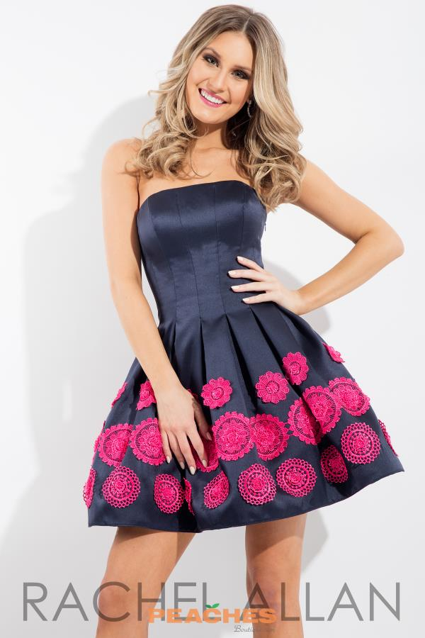 Strapless Navy Rachel Allan Dress 4318