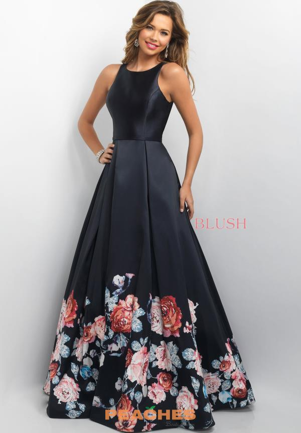 Blush Floral Plus A Line Dress 11136