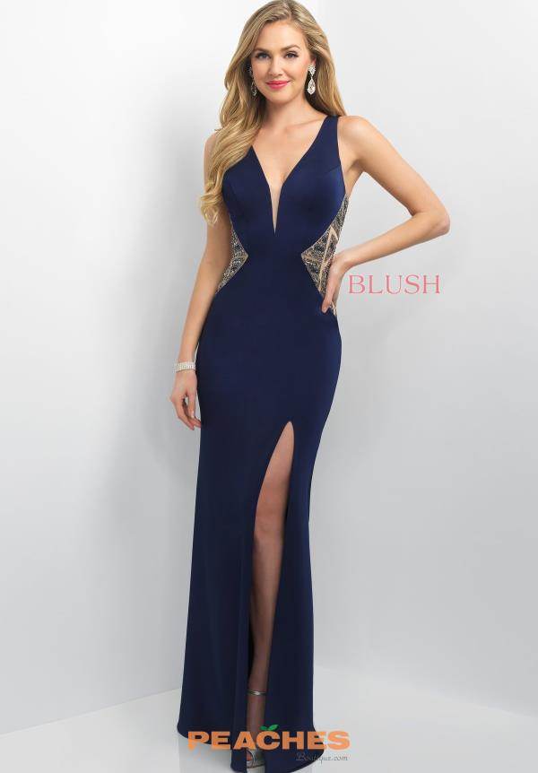 Blush V- Neckline Fitted Dress 11138