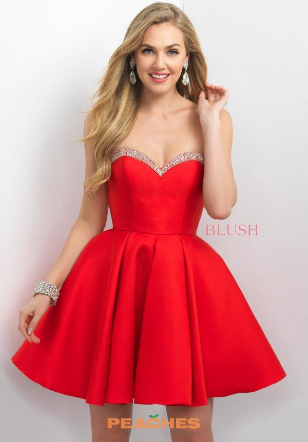 Blush Strapless A Line Dress 11152