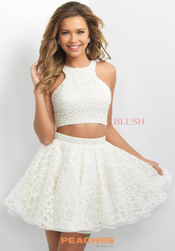 A Line Beaded Blush Dress 11154