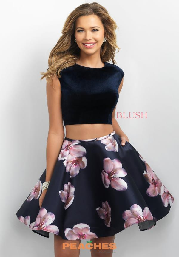 Blush Two Piece Print Dress 11179