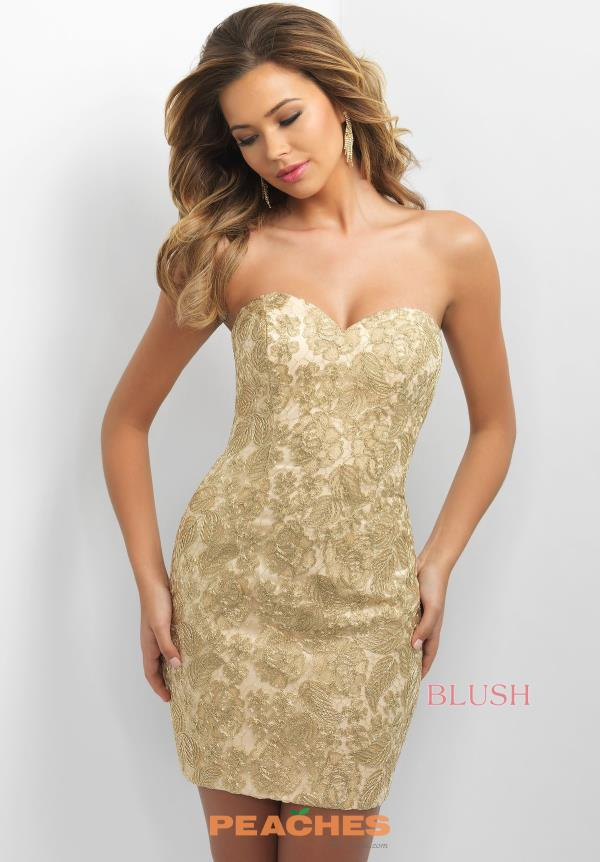 Short Lace Blush Dress C357