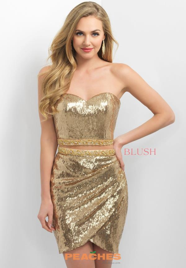 Blush Sequins Fitted Dress C358