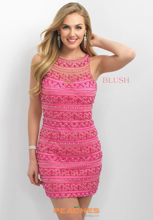 Blush Short Fitted Dress C367