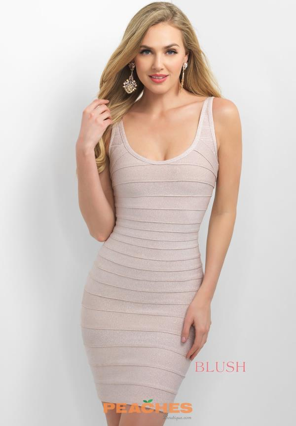 Blush Two Straps Fitted Dress C369