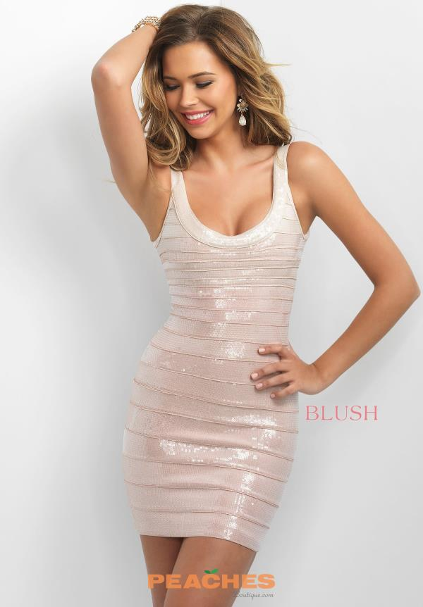 Blush Bandage Fitted Dress C373