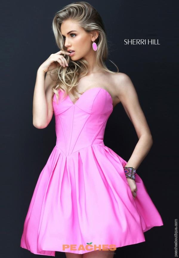 Sherri Hill Short Sweetheart Neckline Dress 50501
