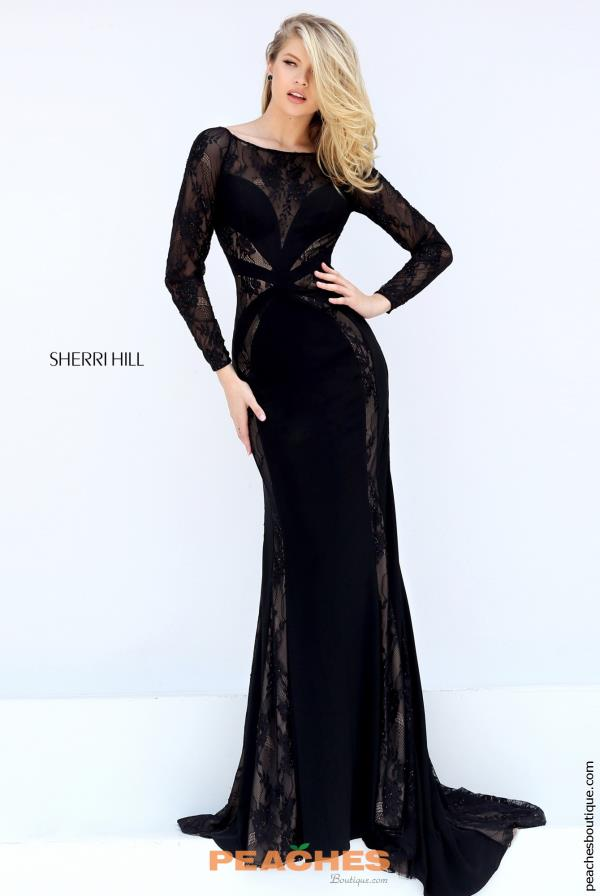 Sherri Fitted Black Hill Dress 50510