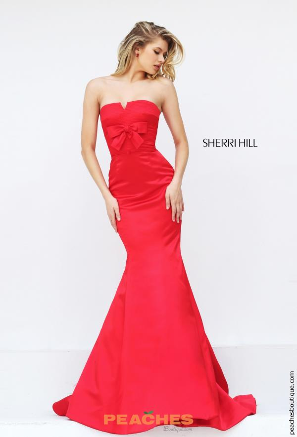 Strapless Long Sherri Hill Dress 50543