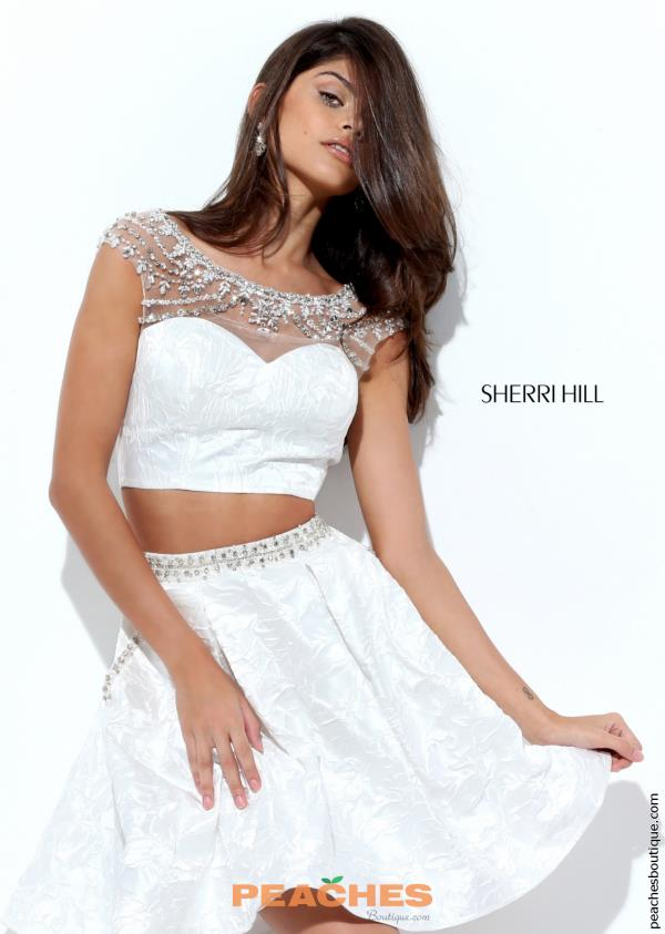 Sherri Hill Short Beaded Two Piece Dress 50499