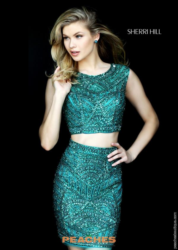 Sherri Hill Short Two Piece Dress 50530