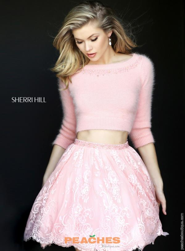 Sherri Hill Short Two Piece A Line Dress 50549