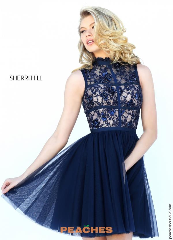 Sherri Hill Short Tulle Skirt Dress 50636