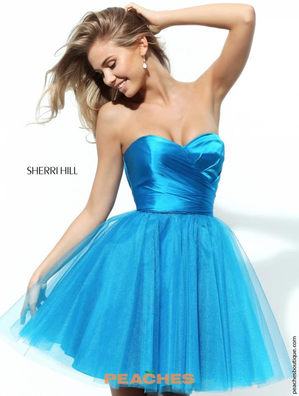 Sherri Hill Short Tulle Skirt Dress 50657