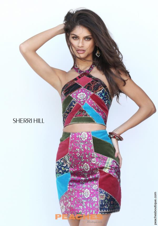Sherri Hill Short Two Piece Dress 50664