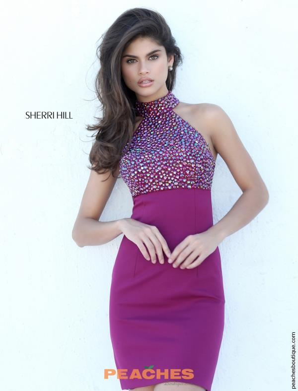 Sherri Hill Short Beaded Dress 50713