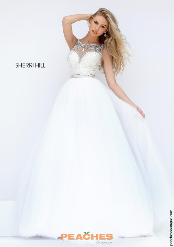 Sherri Hill Tulle A Line Dress 50562