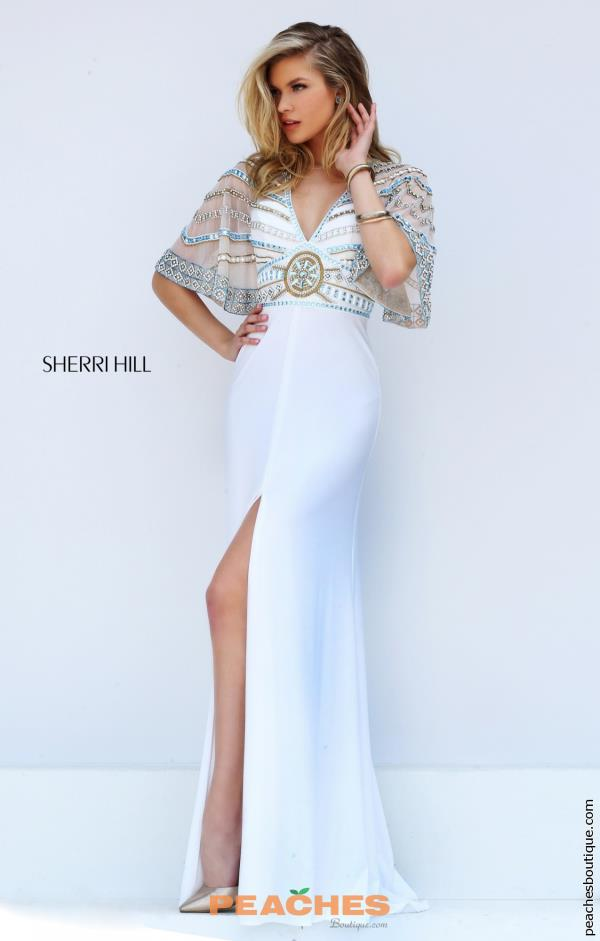 Sherri Hill Sleeved Beaded Dress 50591