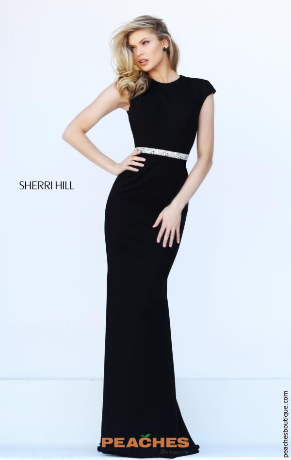 Sherri Hill Sleeved Long Dress 50646