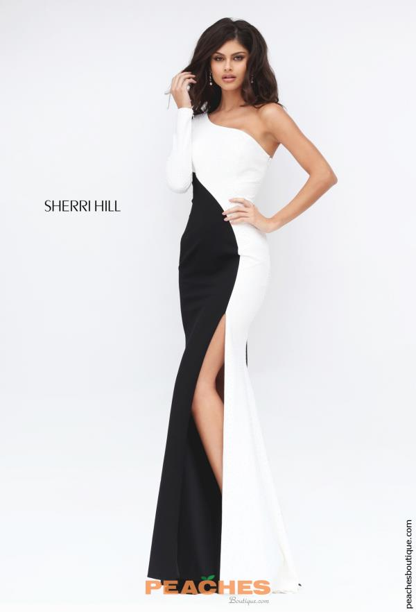 Sherri Hill One Sleeved Fitted Dress 50648
