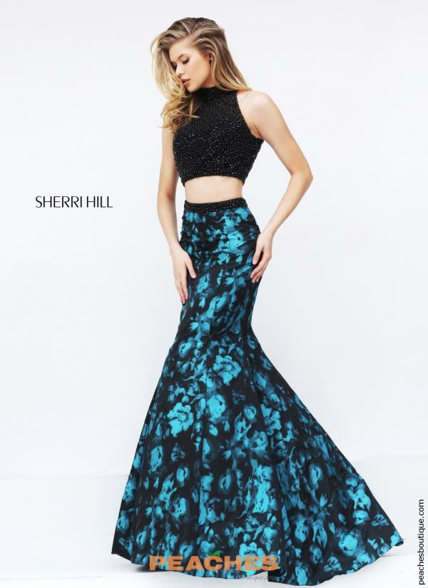 Sherri Hill Mermaid Print Dress 50674