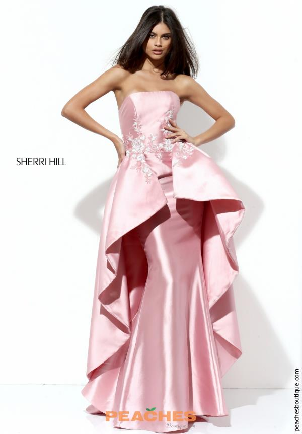 Strapless High Low Pageant Sherri Hill Dress 50685