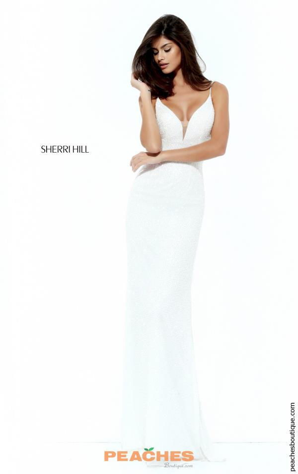 Sherri Hill Fitted V- Neckline Dress 50731