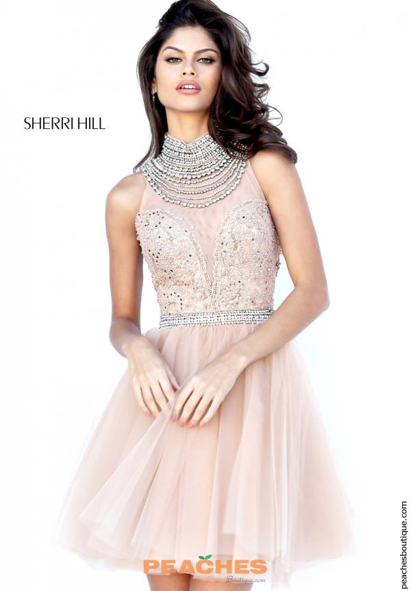 Sherri Hill Short Tulle Skirt Dress 50538