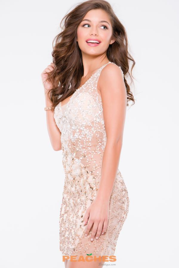 JVN by Jovani Short Beaded Dress JVN37093